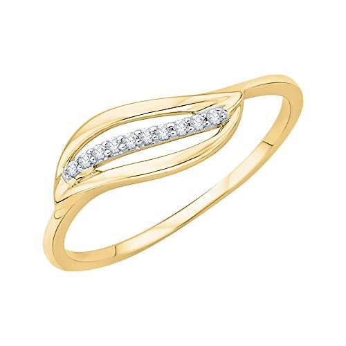 KATARINA Anillo de moda de diamantes en oro de 14 quilates (1/20 cttw, J-K, SI2-I1)