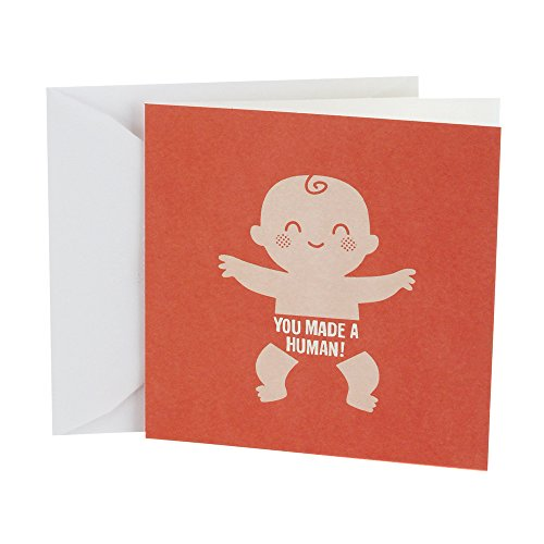 Hallmark Studio Ink Baby Congratulations Card (Made a Human)