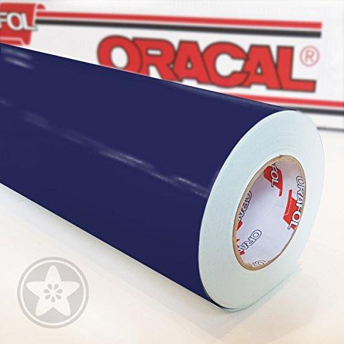 hauptsachebeklebt Oracal 621 Folien Set 050 - Dunkelblau Klebefolie - 5m x 63cm - Orafol - Möbelfolie - Plotterfolie - Selbstklebend (Folien Set inkl. weichem Filzkantenrakel)