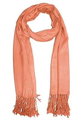 URBAN-TRENDZ Latest Collection of Satin Pashmina Scarf Stole Duppatta Shawl with twisted fringes in Superfine Quality (Summer Colours) UT2330