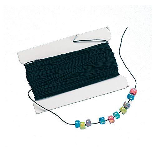Baker Ross EK6282 Ross Schwarzes Gummiband - für Kinder zum Basteln für Perlenkunst und Schmuck - Spule mit 30 m