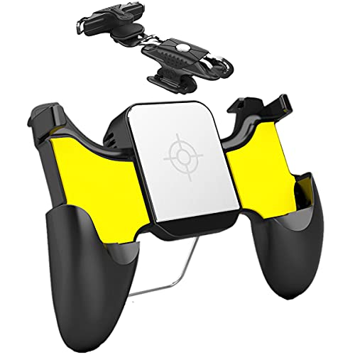 Mobile Phone Radiator Controller Gamepad with Cooling Fan Gaming Grip for iPhone Ipad Android Phone iOS PUBG Call of Duty Fortnite Joystick, USB Game Cooler Case with Triggers L1R1 Buttons, 4-6.5