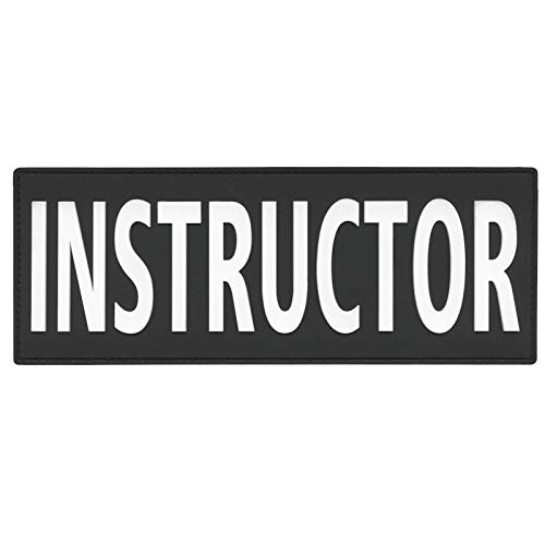 2AFTER1 Large Instructor 3x8 Plate Carrier Body Armor Chest Rig Tactical Vest PVC Rubber Fastener Patch