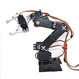 WF Kit de Robots mecánicos de Metal Completo de DIY para Arduino Robot Build Kits para niños y Adultos, con 6pcs servos, Proporciona tutoriales en línea
