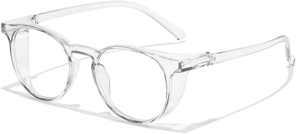 MINGSTORE Gafas de Seguridad Gafas antiniebla Gafas Protectoras Escudos Laterales Protección contra la luz Azul Gafas para Hombres Mujeres Adecuado para la Escuela, el Laboratorio, la Vida Diaria