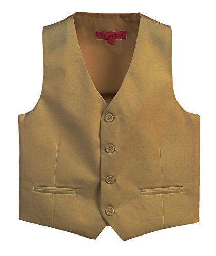 Gioberti Boy's 4 Button Formal Suit Vest, Khaki, Size 5