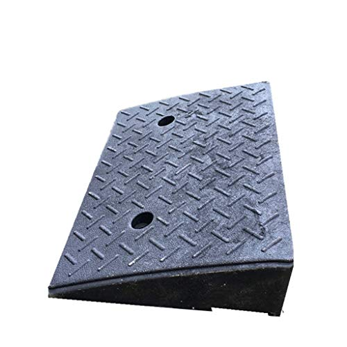 CSQ-Ramps Underground Garage Ramps, Fiets Ramps Factory Park opritten Deur Ramps Heavy Duty Rubber Curb Ramps Curb Ramps (Color : Black, Size : 48 * 32 * 11cm)