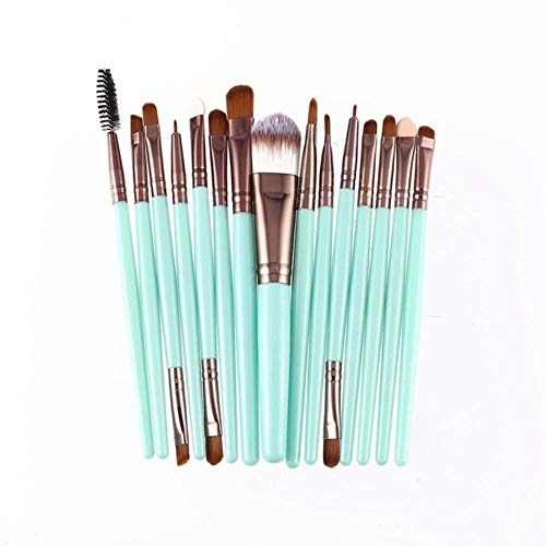 EKL 15 stks/set Make-up borstels Kit Wimper Lip Foundation Poeder Oogschaduw wenkbrauw Eyeliner cosmetische make-up borstel Beauty Tool