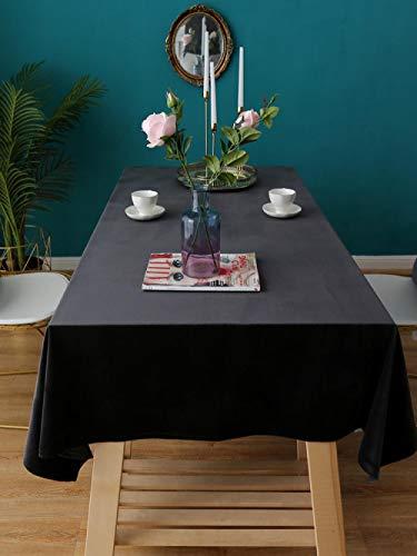 Kuingbhn Mantel para Mesa Patrón de Cocina Salón Suave y Espeso para Las Mesas Cuadradas Rectangular Gris Negro 135 × 240cm