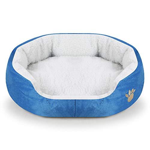 SeaYork Haustier Hund Bett geeignet für kleine Hunde und Katzen Decke Haustier Haus Welpen Hund Zwinger Winter warme Haustier Bett Matratze 45x40x11cm bluedogbed