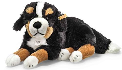 Steiff Senni Berner Sennenhund - 45 cm - Kuscheltier für Kinder - kuschelig & waschbar - schwarz/braun/weiß - liegend (079528)