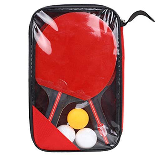 SJF Juego de Ping Pong de Tenis de Mesa, Paquete de 2 Jugadores, Bolas de 3 Estrellas, Estuche de Almacenamiento portátil, Juego Completo de Tenis de Mesa con Velocidad Avanzada, Control y Giro