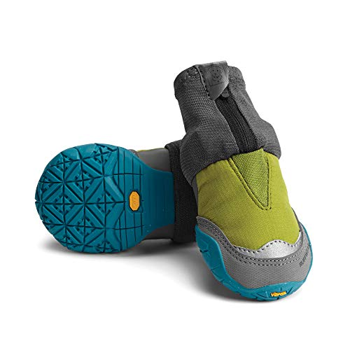 Ruffwear Hunde-Schuhe für extrem kalte Wetterbedingungen (2er Set), Sehr große Hunderassen, Größe: 83 mm, Grün (Forest Green), Polar Trex, P15301-307325