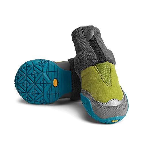 Ruffwear Hunde-Schuhe für extrem kalte Wetterbedingungen (2er Set), Kleine bis mittelgroße Hunderassen, Größe: 57 mm, Grün (Forest Green), Polar Trex, P15301-307225