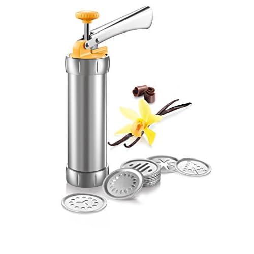 Tescoma 630535 Pistola Sparabiscotti/Decoratore per Torte, Metallo