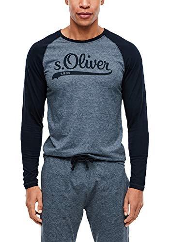 s.Oliver Herren 26.899.31.5614 Schlafanzugoberteil, Blau (Fresh Ink 59w0), X-Large (Herstellergröße: XL)