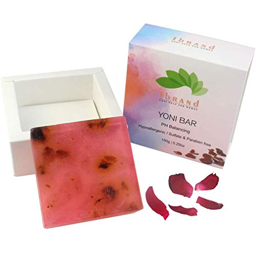5.3 OZ Rose Yoni soap | 100% Handmade Natural Organic Yoni Bar | Bar Soap for Women | Wash Away Odor & Germs