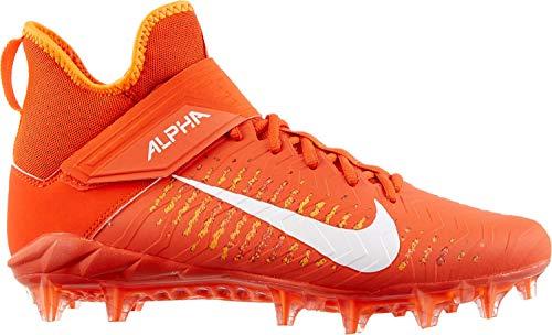 Nike Men's Alpha Menace Pro 2 Mid Football Cleat (11.5, Team Orange/White/Total Orange)
