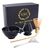 SRC Japanese Matcha Tea Set – Matcha Kit with Whisk and Bowl with Pouring Spout – 6-Piece Matcha Green Tea Kit for Traditional Japanese Tea Ceremony – Premium Matcha Set with Detailed Instructions