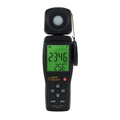 YEZIN Digital-Meter- Lichtmessgerät-Lichtmessgerät-Lichtmessgerät-Photometer der hohen Präzisions-Digital-Lux-Meter: 1-200,000 Lux-Messwerkzeug AS813 Labor
