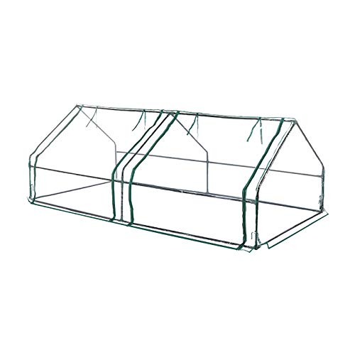 """TOOCA 96""""×48""""×36"""" Waterproof Greenhouse with 2 Large Doors Portable Mini Greenhouses for Outdoors Indoors Sturdy Structure Good Partner for Raised Garden Bed"""