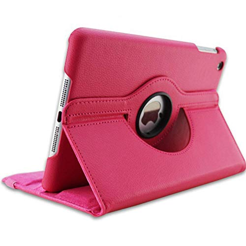 For iPad 3 A1416 A1430 A1403 Cover 360 Degree Rotation PU Leather for ipad case 3 2012 Release Stand Holder Case-for iPad 2 3 4 rose