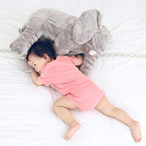 40 * 33cm Bebé Suave Elefante Calm Muñeca Juguetes Cama para Dormir Cojín de Asiento Lumbar Niños Dormitorio Portátil Ropa de Cama Rellena