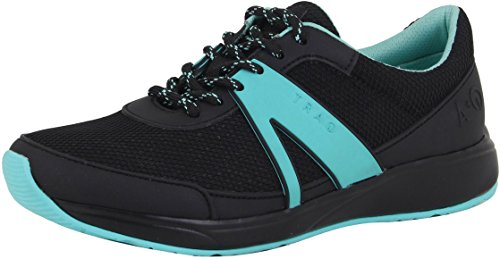 TRAQ BY ALEGRIA Qarma Womens Smart Walking Shoe Black 6 M US