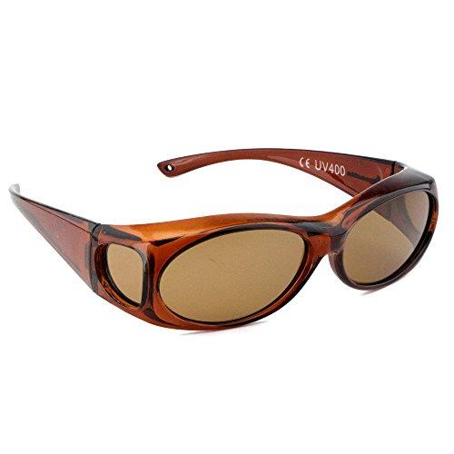 Figuretta Sonnenbrille Überbrille in braun aus der TV Werbung