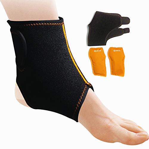Knöchel Eis Gel Hot Cold Pack Wrap für Knöchel wiederverwendbar - für Sportverletzungen, Verstauchungen, Schwellung, Schmerzlinderung und mehr - fit für linken/rechten Knöchel