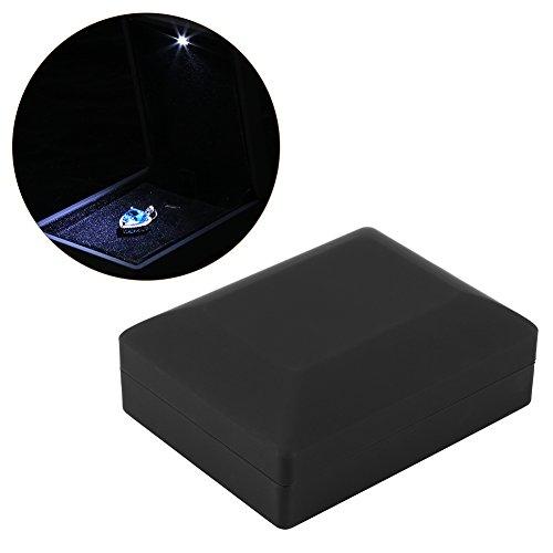 4 Arten Ring / Anhänger / Armband / Halskette Box mit beleuchteter LED Schmuck Display Aufbewahrungsbox (Anhänger Box)