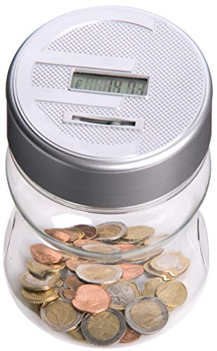 Salvadanaio Con Contamonete Automatico Forma Barattolo Display LCD Money Box LCD