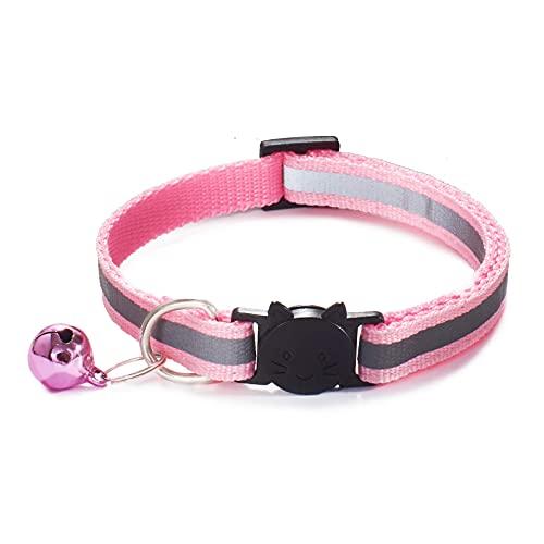QIXIAOCYB Pet Pet PEQUETE PEQUEÑO Perro Collar REFLECTURA COMBALLO Y CAMBLE Collar DE Seguridad Elástica Ajustable con Material de Terciopelo Suave (Color : 56)