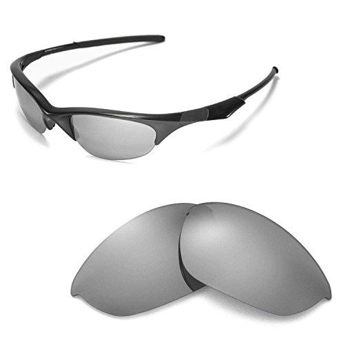 Walleva Ersatzgläser für Oakley Half Jacket Sonnenbrille - Mehrfache Optionen (Titanium Mirror Coated - Polarisiert)
