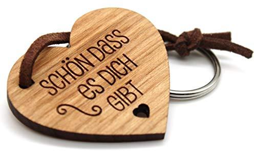 Schlüsselanhänger aus Echtholz - Kirsche Vollholz mit Gravur