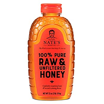 Nature Nate's 100% Pure Raw & Unfiltered Honey  Squeeze Bottle  Award-Winning Taste 32 Oz.