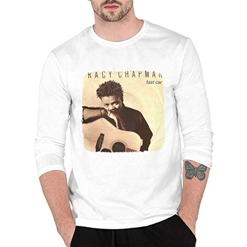 DABSON Tracy Chapman Fast Car Men's Long Sleeves Shirts L White