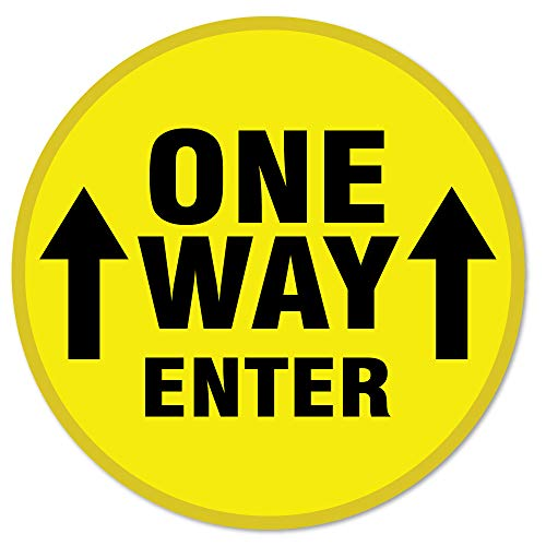 SignMission Coronavirus One Way Enter Arrow Non-Slip Floor Graphic 6 Pack of 7' Vinyl Decal Protect Your Business, Work Place & Customers Made in The USA (FD-C-7-6PK-99977)
