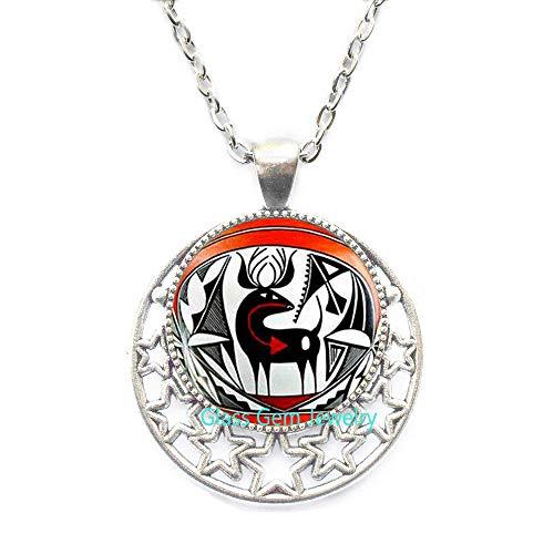 Collar indio nativo americano, colgante de arte indio americano, joyería del sudoeste, collar étnico tribal, collar para hombre, Q0079