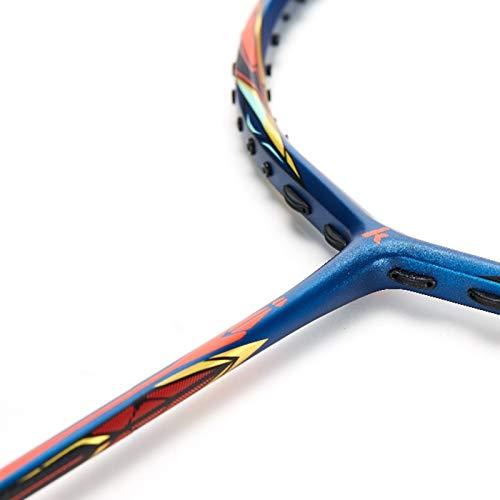 Vobajf Raqueta de bádminton raqueta de bádminton en forma de T de fibra de carbono añadida al poder de los jugadores intermedios (color: color de la foto, tamaño: 67,5 cm)