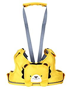 Happy Cherry - Bebés Niños Arnés de Seguridad Andador Ajustable para Aprendizaje de Primeros Pasos Baby Walking Assistant 10-24 Meses, Amarillo