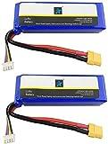 ZYGY 2PCS 11.1V 2700mah Lipo Batería para Cheerson CX-20 CX20 GPS sin escobillas RC Quadcopter Drone Modelo de avión de UAV XT60 Cabeza Alta tasa de lipo batería
