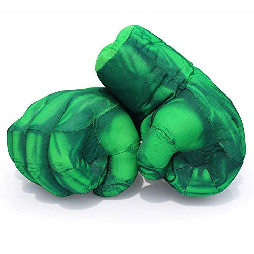 Hulk Fist Gloves Doll Boxer Movie Doll Hulk Anger Hand Spider-Man Thing Gloves Doll Toys, Red