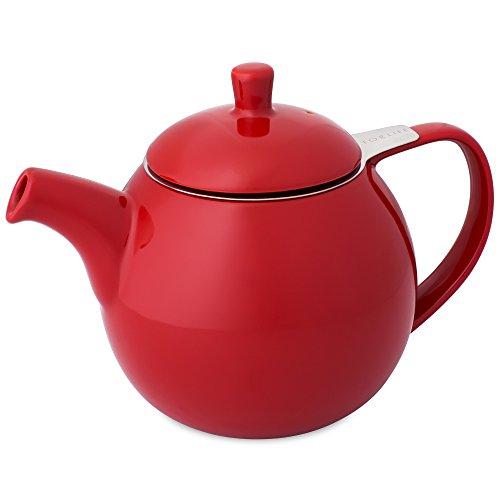 FORLIFE Curve Teekanne mit Teesieb, 680 ml, Rot