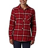 Columbia Women's Simply Put II Flannel Shirt, Beet Dobby, X-Small