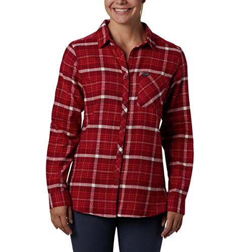 Columbia Women's Simply Put II Flannel Shirt, Beet Dobby, Medium