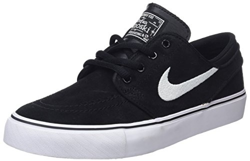 Nike Stefan Janoski (GS), Zapatillas de Skateboarding Niños, Negro / Blanco (Blk / Lt Grpht-White-Gm Lght Brw), 36 1/2