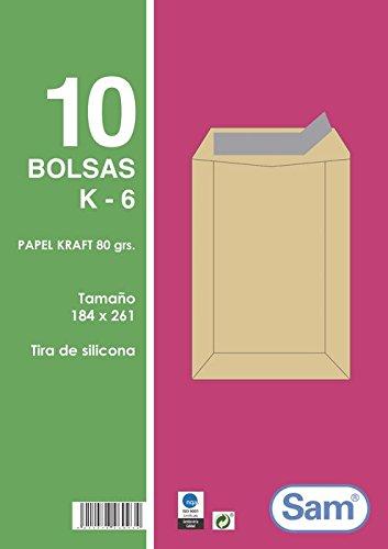 Sam K6 - Pack de 10 bolsas con tira de silicona
