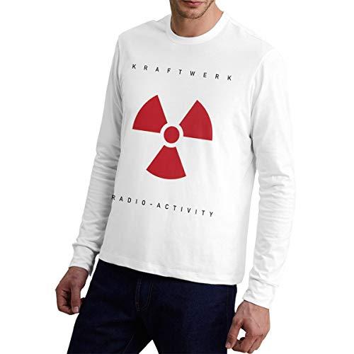 Kraftwerk Radio Activity Long Sleeve Shirt for Men, White, S to XXL