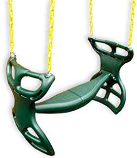 Eastern Jungle Gym Heavy-Duty Plastic Horse Glider Swing Seat Back-to-Back Glider for Two Kids with Coated Swing Chains